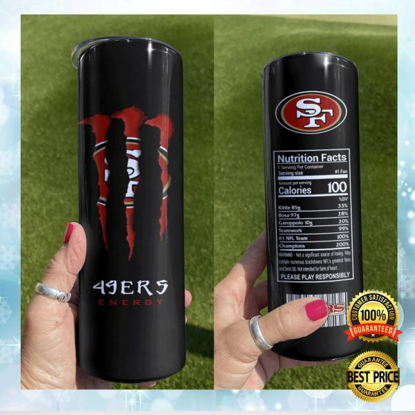 49ers Monster Energy Skinny Tumbler 3