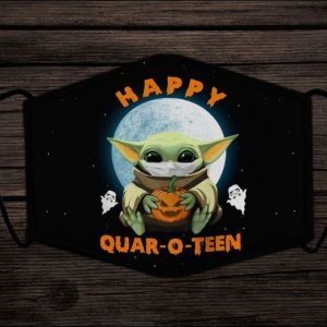 Baby Yoda happy quaroteen face mask