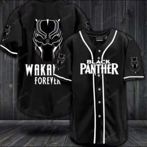Black panther wakanda forever baseball shirt