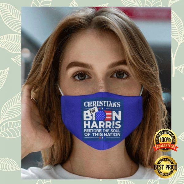 Christians For Biden Harris Restore The Soul Of This Nation Face Mask 3