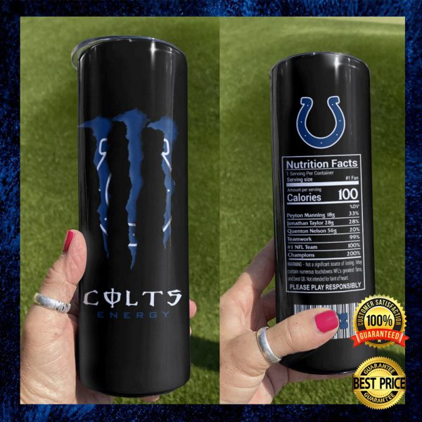 Colts Energy Skinny Tumbler 3