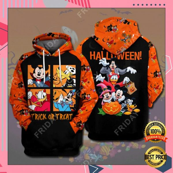 Disney Characters Trick Or Treat Happy Halloween 3D All Over Printed Hoodie 3