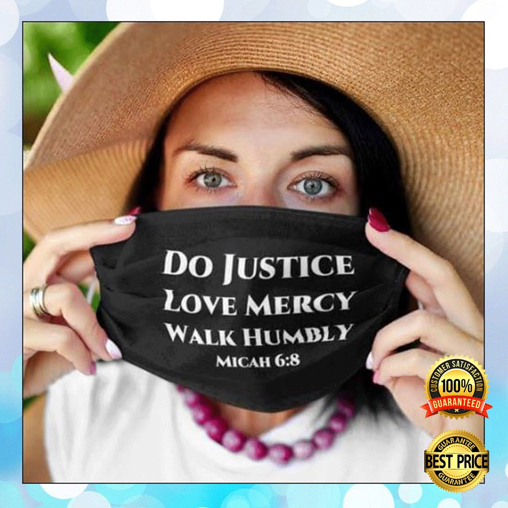 DO JUSTICE LOVE MERCY WALK HUMBLY FACE MASK 4