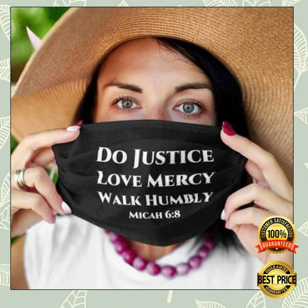 DO JUSTICE LOVE MERCY WALK HUMBLY FACE MASK 3