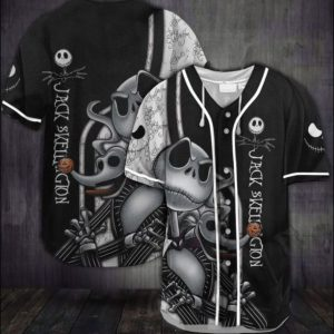 Halloween Jack Skellington baseball shirt