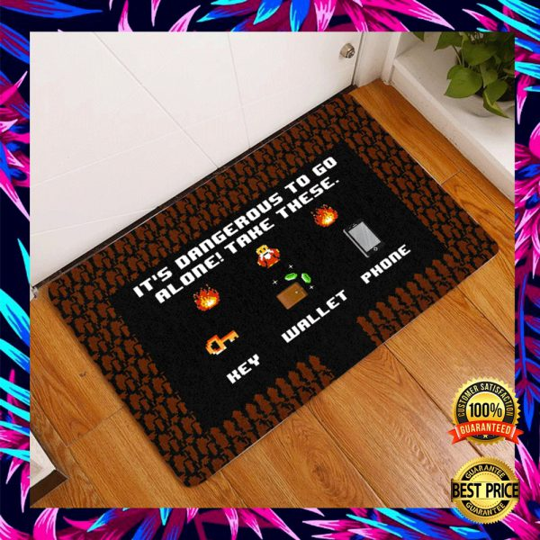 It's Dangerous To Go Alone Take These Key Wallet Phone Doormat 3