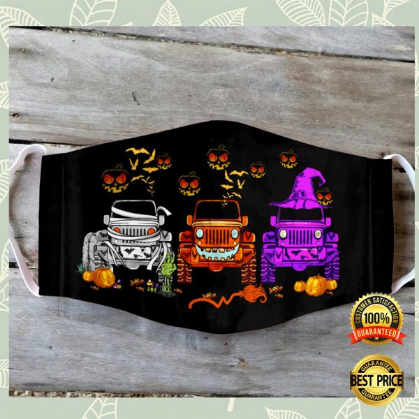 Jeep Happy Halloween Face Mask 3