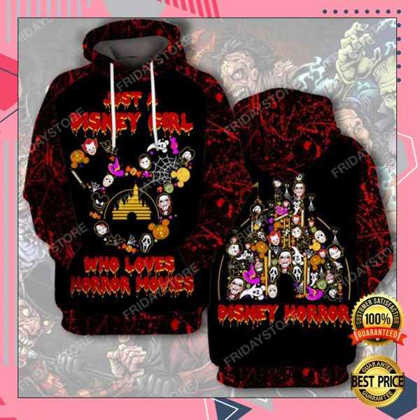 Just A Disney Girl Who Loves Horror Movies 3D All Over Printed Hoodie 3