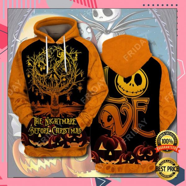 Love The Nightmare Before Christmas 3D All Over Printed Hoodie 3