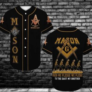 Mason when we pledge we pledge to the east my brother baseball shirt