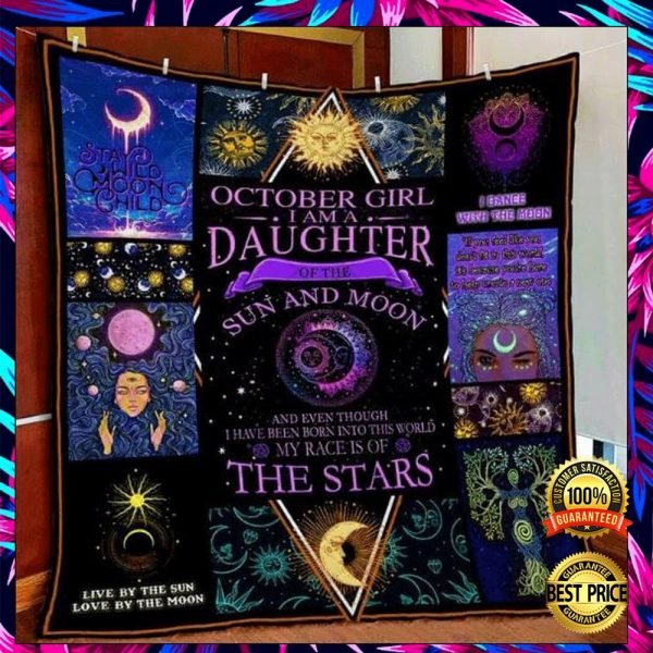October Girl I Am A Daughter Of The Sun And Moon 3D Quilt 3