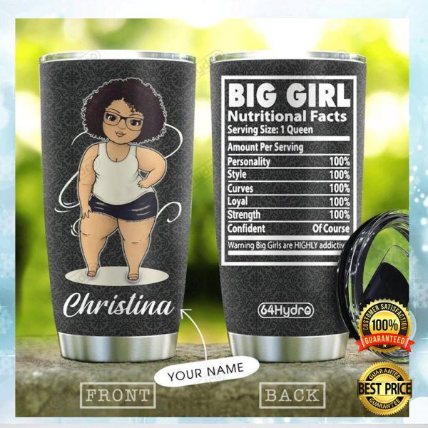 PERSONALIZED BIG GIRL NUTRITIONAL FACTS TUMBLER 3