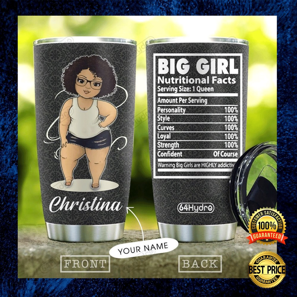 PERSONALIZED BIG GIRL NUTRITIONAL FACTS TUMBLER 4