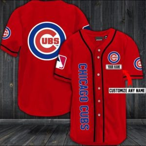 Personalized Chicago Cubs baseball shirt
