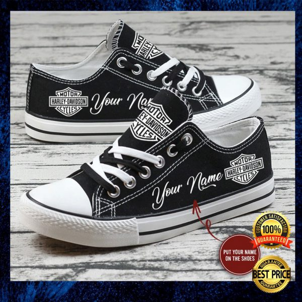 Personalized Harley Davidson Low Top Shoes 3