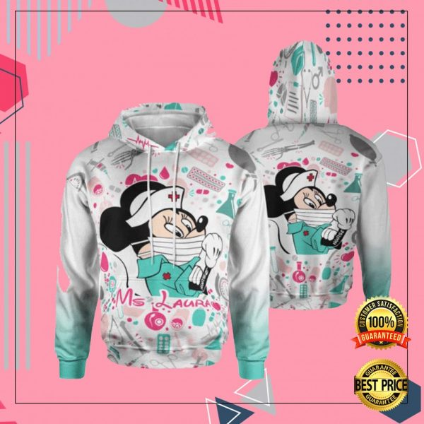 Personalized Minnie Mouse Strong Nurse 3D All Over Printed Hoodie 3