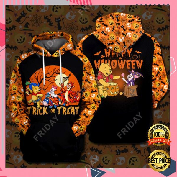 Pooh And Friends Trick Or Treat Happy Halloween 3D All Over Printed Hoodie 3
