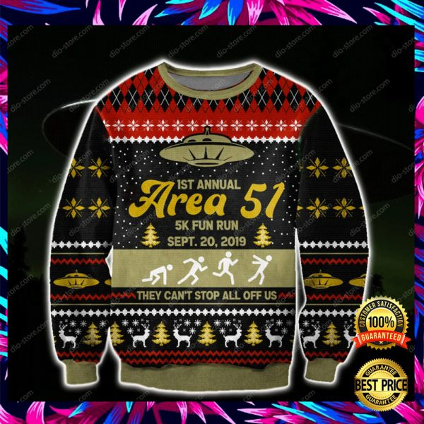 1st Annual Area 51 5k Fun Run Sept 20 2019 3d Ugly Sweater 3