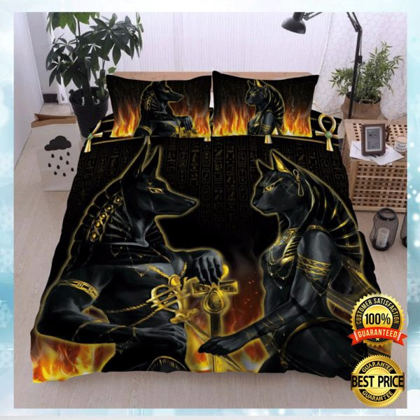 Anubis And Bastet Bedding Set 3