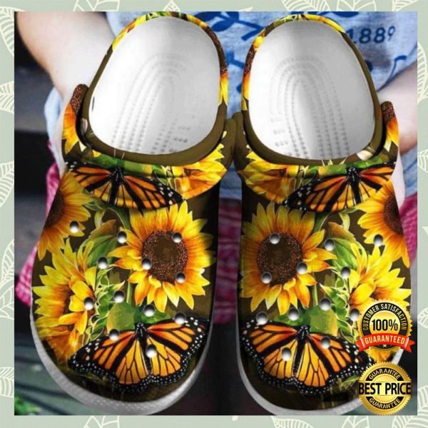 Butterfly And Sunflower Crocs Crocband 3
