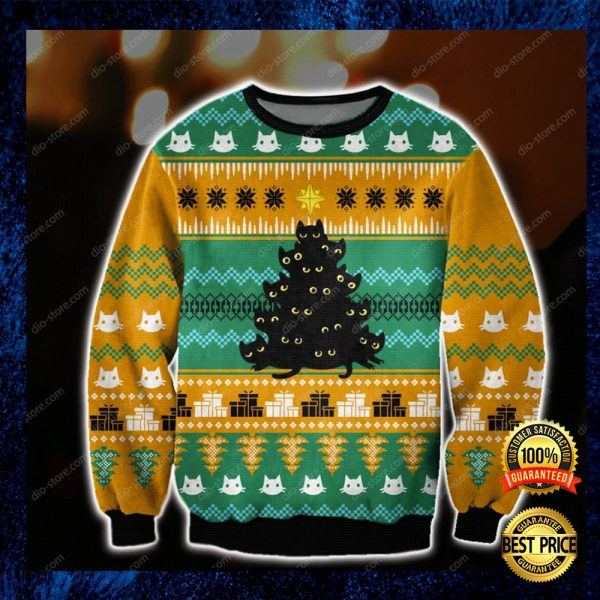 Cats Christmas Tree Ugly Sweater 3