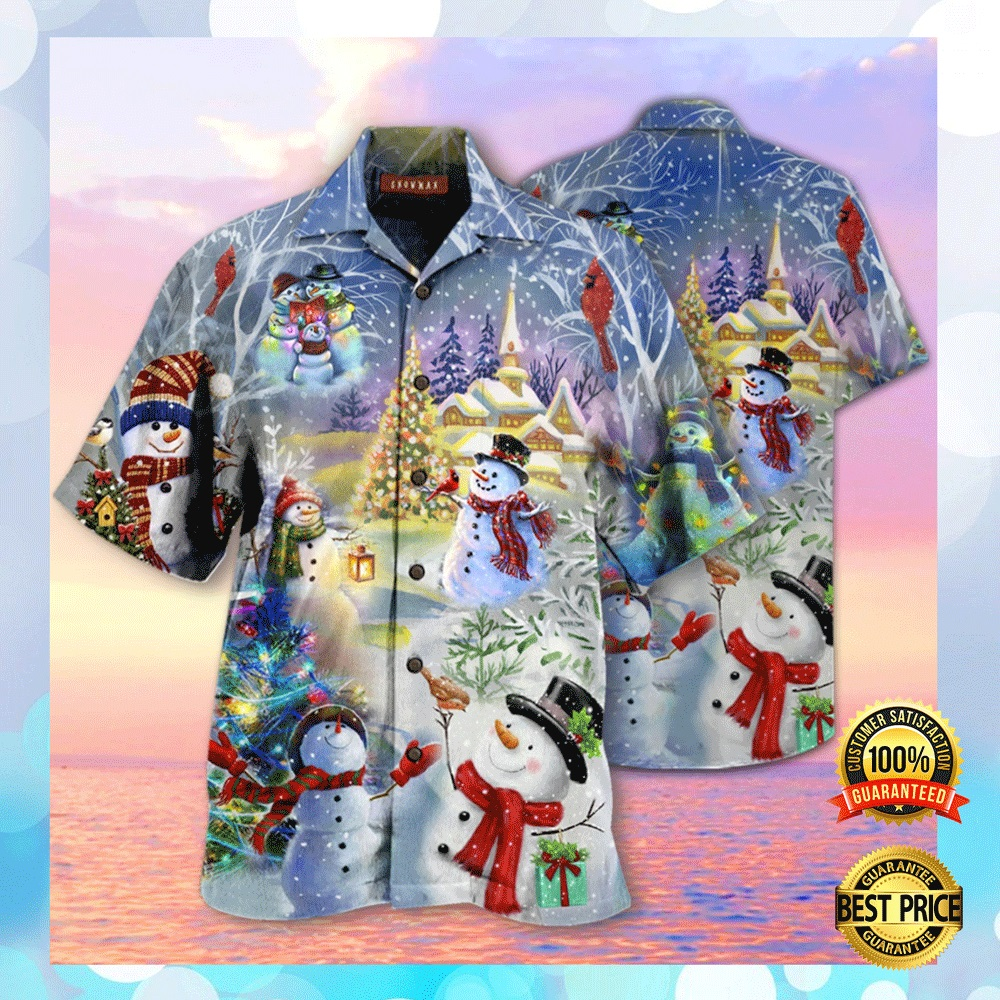 CHRISTMAS SNOWMAN HAWAIIAN SHIRT 4