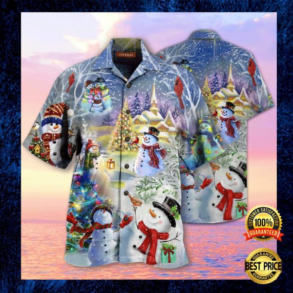 CHRISTMAS SNOWMAN HAWAIIAN SHIRT 3