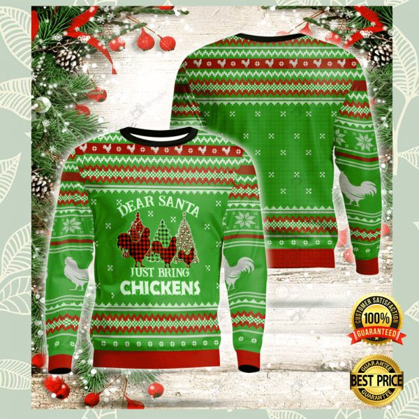 Dear Santa Just Bring Chickens Ugly Sweater 3