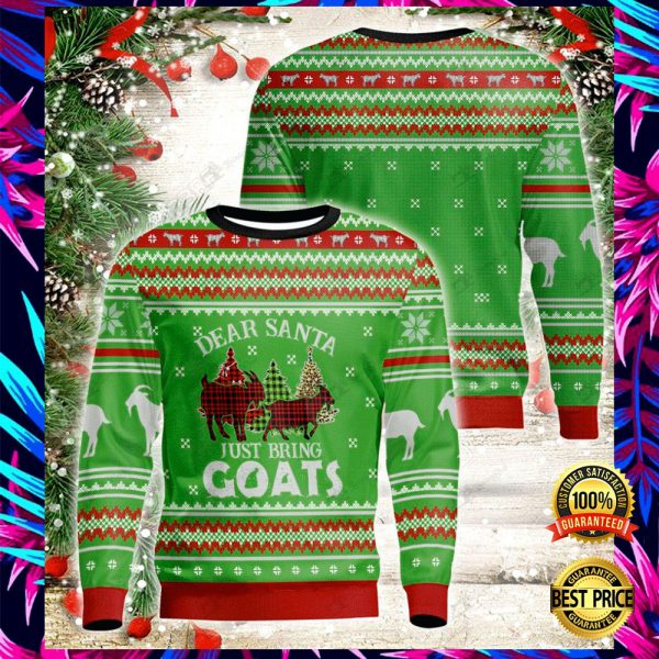 Dear Santa Just Bring Goats 3d Ugly Sweater 3