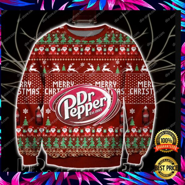 Dr Pepper Merry Christmas 3d Ugly Sweater 3