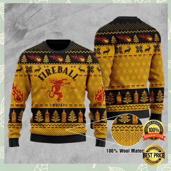 Fire Ball Whisky Ugly Sweater 3