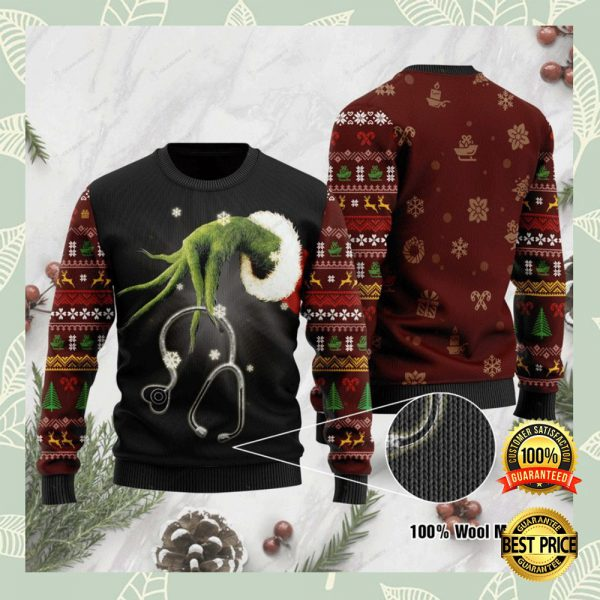 Grinch Nurse Ugly Sweater 3