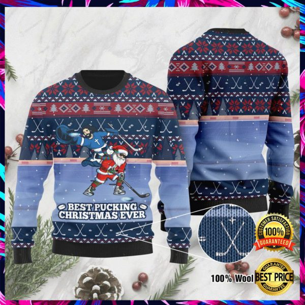 Jesus And Santa Claus Best Pucking Christmas Ever Ugly Sweater 3