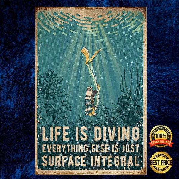 Life Is Diving Everything Else Is Just Surface Integral Poster 3
