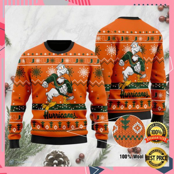 Miami Hurricanes Football Ugly Sweater 3