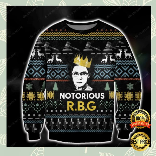 Notorious Rbg Ugly Sweater 3