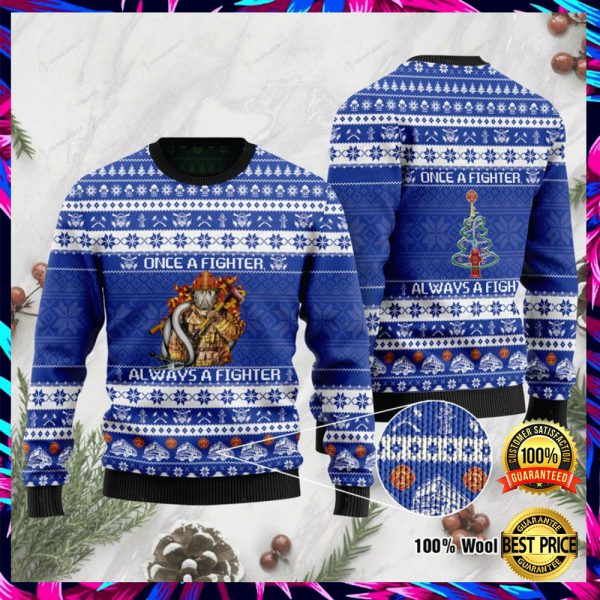 Once A Fighter Always A Fighter Ugly Sweater 3