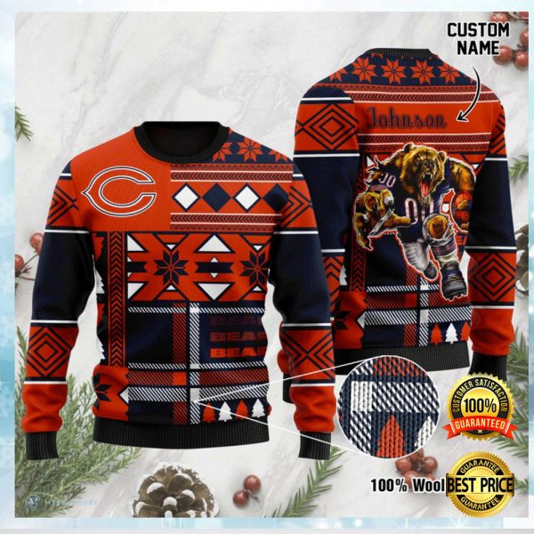 Personalized Chicago Bears Ugly Sweater 3