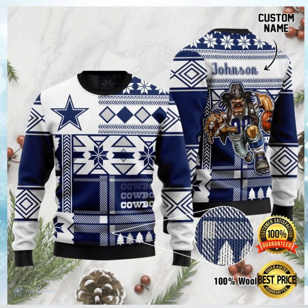 Personalized Dallas Cowboys Ugly Sweater 3