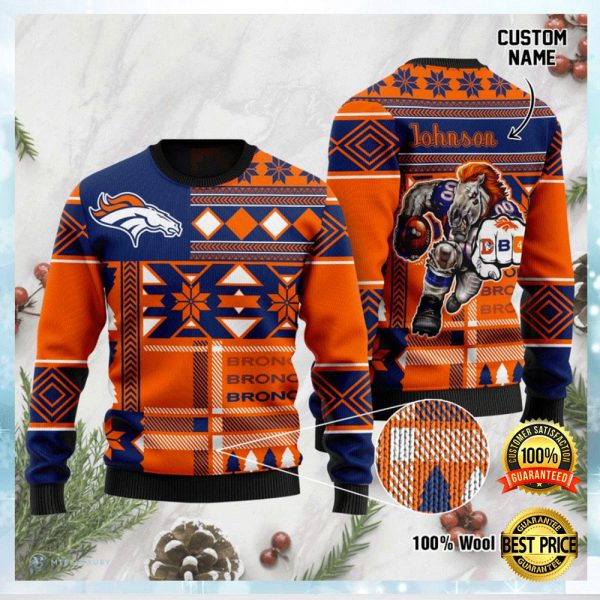 Personalized Denver Broncos Ugly Sweater 3