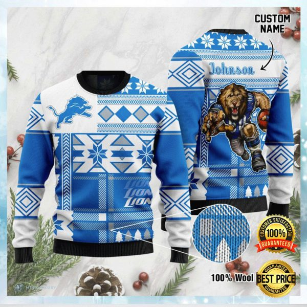 Personalized Detroit Lions Ugly Sweater 3