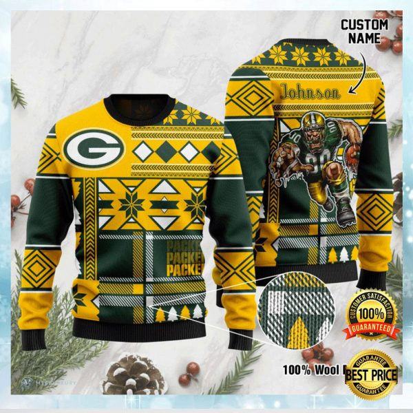 Personalized Green Bay Packers Ugly Sweater 3