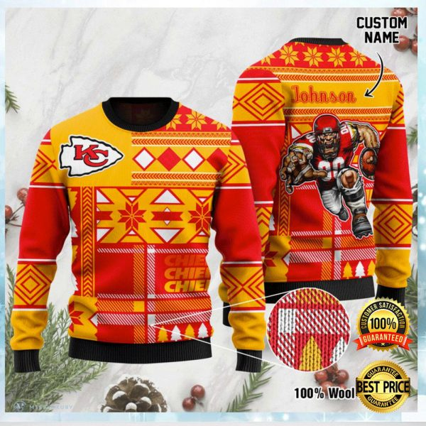 Personalized Kansas City Chiefs Ugly Sweater 3