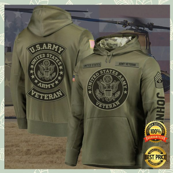 Personalized United States Army Veteran All Over Printed 3d Hoodie 3