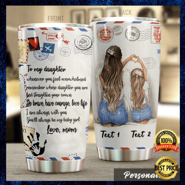 Personalized Airmail Mom To My Daughter Tumbler 3