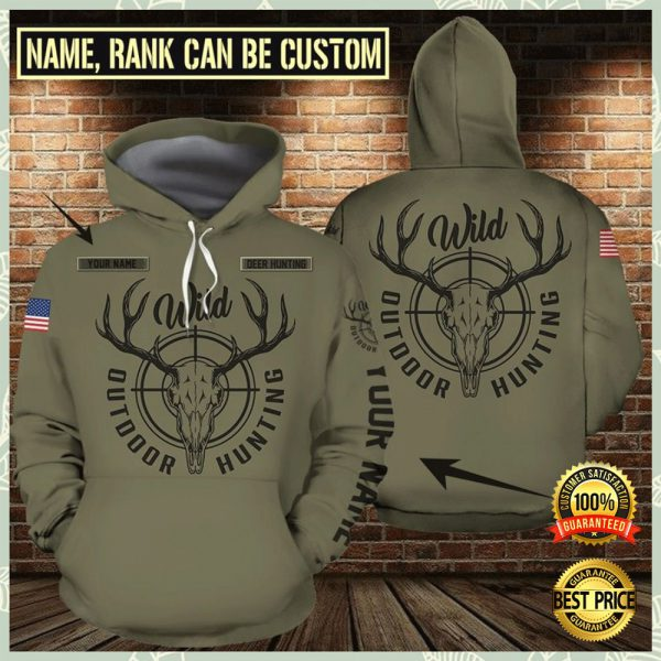 Personalized Outdoor Hunting All Over Printed 3d Hoodie 3