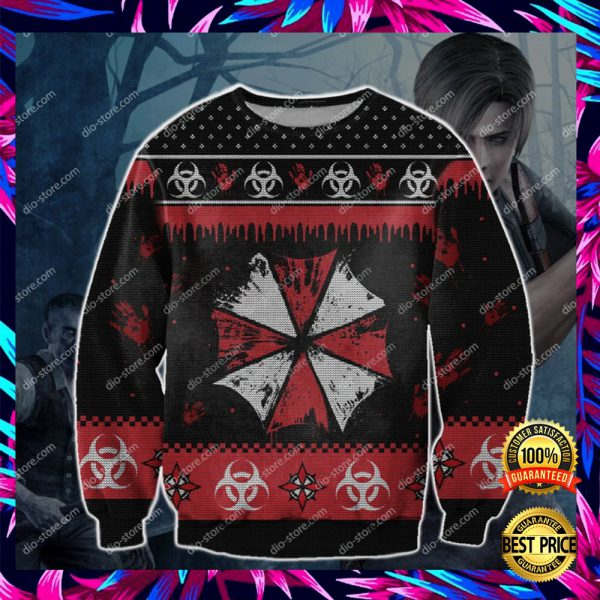 Resident Evil 3d Ugly Sweater 3