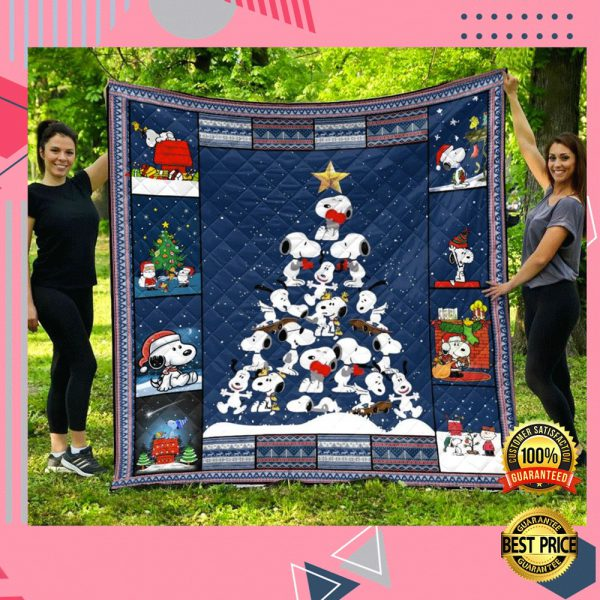 Snoopy Christmas Tree Quilt 3