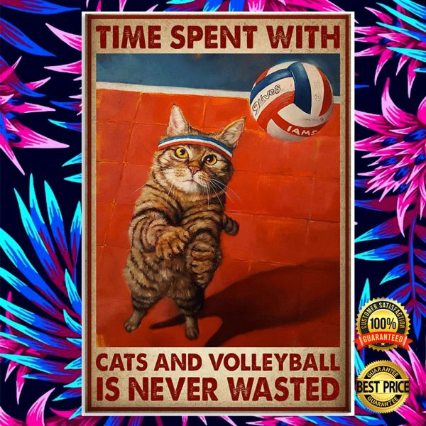 Time Spent With Cats And Volleyball Is Never Wasted Poster 3