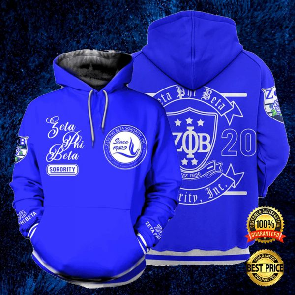Zeta Phi Beta Since 1920 All Over Printed 3d Hoodie 3